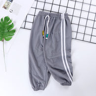 [227186-GRAY] - Celana Training Jogger Anak Sporty - Motif Color Striped