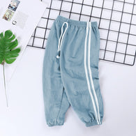 [227186-LIGHT BLUE] - Celana Training Jogger Anak Sporty - Motif Color Striped