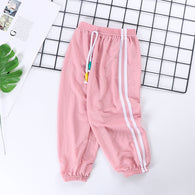 [227186-PINK] - Celana Training Jogger Anak Sporty - Motif Color Striped
