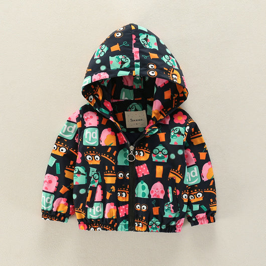 jual [335103] - [IMPORT] Atasan Jaket Hoodie Anak 3 - 7 Thn - Motif Cartoon Minion