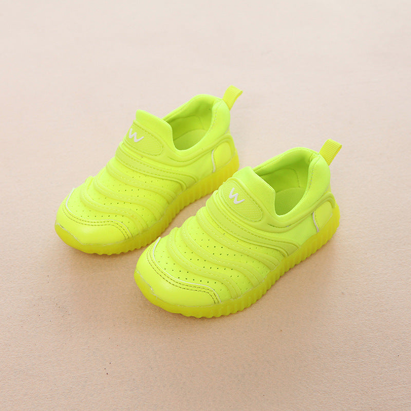 [343102-GREEN STABILO] - IMPORT Sepatu / Shoes Anak Unisex Sporty Lights