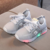 [343105-GRAY] - IMPORT Sepatu Light Sport Anak Unisex - Motif Strappy Road Shoes
