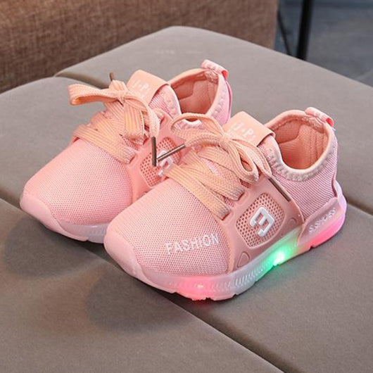 [343105-PINK] - IMPORT Sepatu Light Sport Anak Unisex - Motif Strappy Road Shoes