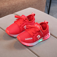 [343105-RED] - IMPORT Sepatu Light Sport Anak Unisex - Motif Strappy Road Shoes