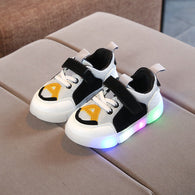 [343106-WHITE BLACK] - IMPORT Sepatu Light Sport Anak Unisex - Motif Strappy Adhesive