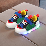 [343106-GREEN WHITE] - IMPORT Sepatu Light Sport Anak Unisex - Motif Strappy Adhesive