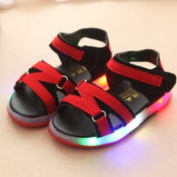 [343113-BLACK RED] - IMPORT Sepatu Sandal Lampu Anak Casual Unisex - Motif Multicolor
