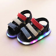 [343122-BLACK] - IMPORT Sepatu Sandal Lampu Anak - Motif Three Color Cover