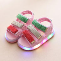 [343122-PINK] - IMPORT Sepatu Sandal Lampu Anak - Motif Three Color Cover