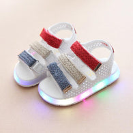 [343122-WHITE] - IMPORT Sepatu Sandal Lampu Anak - Motif Three Color Cover