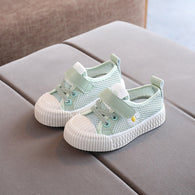 [343146-GRAY GREEN] - Sepatu Kets Anak Perempuan Fashion Cycle Import - Motif Side Flowers