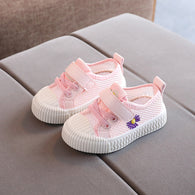 [343146-PINK] - Sepatu Kets Anak Perempuan Fashion Cycle Import - Motif Side Flowers