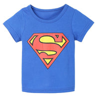 [356140-BLUE] - Kaos Atasan Anak Import - Motif Superman Hero