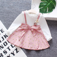 jual [352125-PINK] - Dress Renda Anak Perempuan Kekinian - Motif Ribbon Rabbit