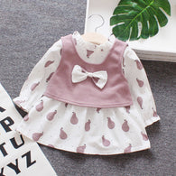 jual [352134-PINK] - Dress Rompi Renda Anak Perempuan Kekinian - Motif Fruit Color