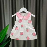 [352187] - Dress Import Anak Perempuan High Fashion - Motif Apple Pattern