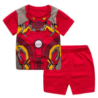 [354317] - Baju Setelan Street Wear Anak Import Sleek Style - Motif Iron Man