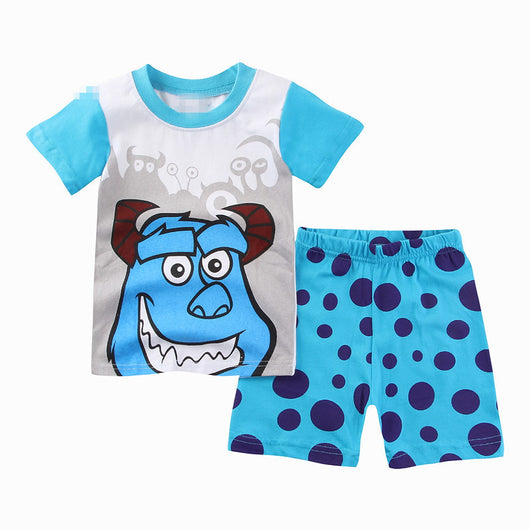 [354324] - Baju Setelan Street Wear Anak Import Sleek Style - Motif Sullivan Monster