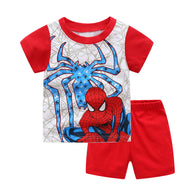 [354399] - Baju Setelan Street Wear Anak Import - Motif Hero Spiderman