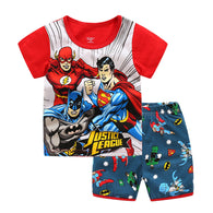 [354430] - Baju Setelan Street Wear Anak Import - Motif Justice League