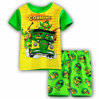 [354433] - Baju Setelan Street Wear Anak Import - Motif Turtles Cars