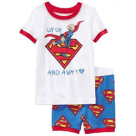 [354454] - Baju Setelan Street Wear Anak Import - Motif Superman And Away