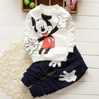 [356136-BLACK] - Setelan Sweater Trendi Anak Import - Motif Mickey Mouse