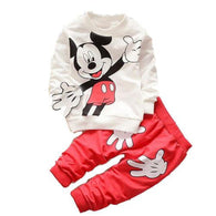[356136-RED] - Setelan Sweater Trendi Anak Import - Motif Mickey Mouse