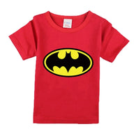 [356137-RED] - Kaos Atasan Anak Import - Motif Hero Bats