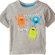 [357268] - Atasan Anak Import / Kaos Anak / Baju Atasan Summer Anak Trendi - Motif Monster Party