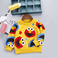 [358102-YELLOW] - Atasan Sweater Anak / Sweater Anak Kekinian - Motif Elmo Is Happy