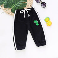 [358170-BLACK] - Celana Jogger Anak Import / Celana Training Jogger Anak - Motif Little Dino