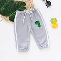 [358170-LIGHT GRAY] - Celana Jogger Anak Import / Celana Training Jogger Anak - Motif Little Dino