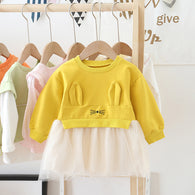 [362115-YELLOW] - Dress Anak Perempuan Trendi - Motif Rabbit Ears