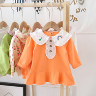 [362146-ORANGE] - Dress Anak Perempuan Trendi - Motif Rainbow of Fruits