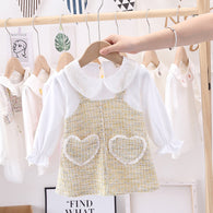 [362187-YELLOW] - Dress Anak Perempuan Trendi Import - Motif Pouch of Love