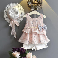 [363106-PINK] - Setelan Fashion Anak Perempuan Modish - Motif Lots of Flowers