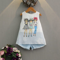 [363108] - Setelan Fashion Anak Perempuan Modish - Motif Three Fashionable Girls