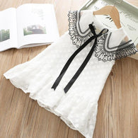 [363117-WHITE] - Dress Fashion Anak Perempuan Modish - Motif Long Tie