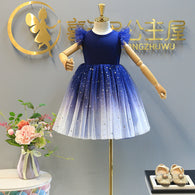 [363199] - Dress Import Fashion Trend Anak Perempuan - Motif Color Gradation Stars