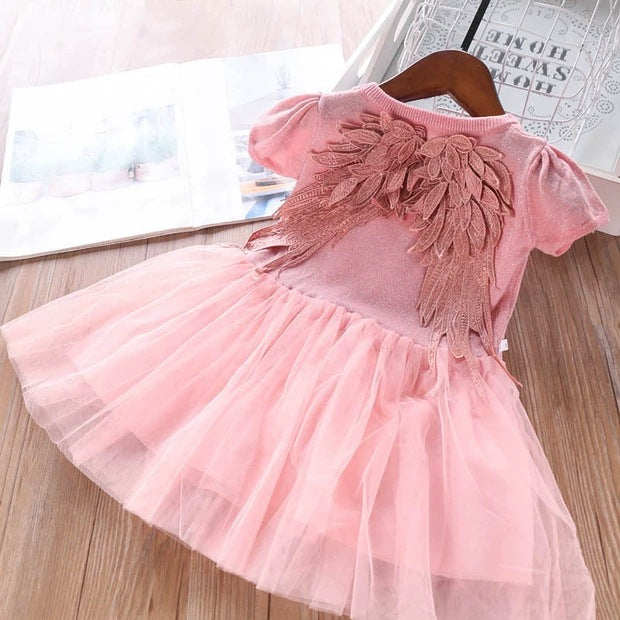 [363204] - Dress 3D Fashion Trend Anak Perempuan / Dress 3D Import Anak Perempuan - Motif Leaf Wing