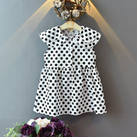 [363230-WHITE] - Dress Import Fashion Trend Anak Perempuan - Motif Polkadot
