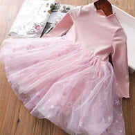 [363234-PINK] - Dress Import Fashion Trend Anak Perempuan - Motif Snow Tutu