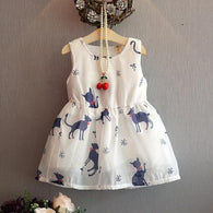[363240] - Dress Import Fashion Trend Anak Perempuan - Motif Tame Cat