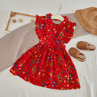 [363245] - Dress Import Fashion Trend Anak Perempuan - Motif Leaf Color