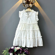 [363267-WHITE] - Dress Trend Fashion Anak Perempuan Import - Motif Little Star