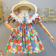 [363272] - Dress Trend Fashion Anak Import - Motif World of Flowers