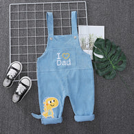 [368209-LIGHT BLUE] - Bawahan Overall Trendi Anak Import - Motif I Love Dad