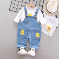 [368219] - Baju Setelan Overall Trendi Anak Import - Motif Young Chickens