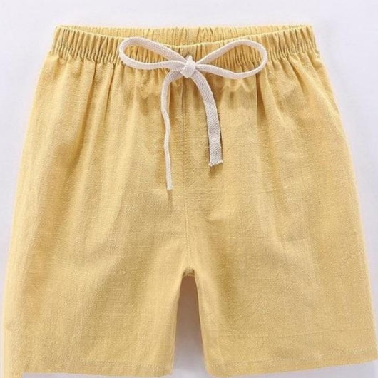 [371174-YELLOW] - Import Celana Santai Anak / Celana Training Anak - Motif Plain Color